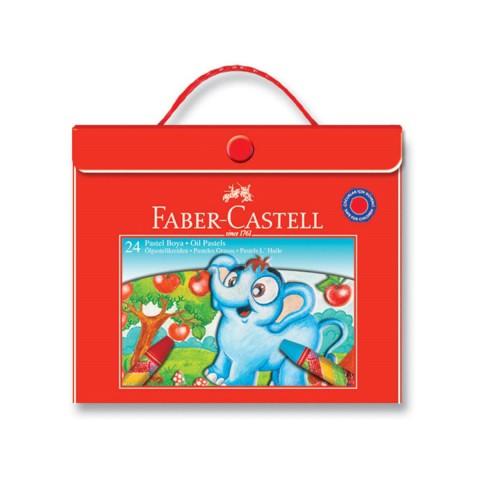 Faber Castell 24 Renk Plastik Çantalı Pastel Boya