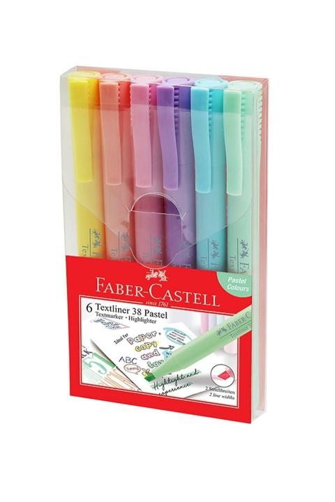 Faber Castell 38 Kalem Tipi 6'lı Fosforlu Kalem Seti