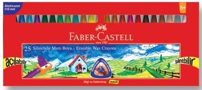 Faber Castell Cray On Wax 25'li Silinebilir Mum Boya