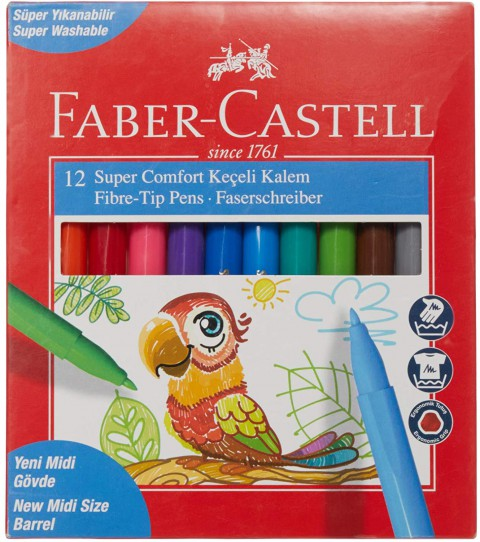 Faber Castell Super Comfort 12'li Keçeli Kalem
