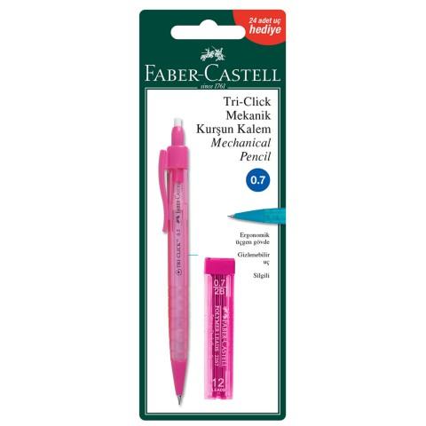 Faber Castell Triclick 0.7mm Versatil Kalem + Uç - Pembe