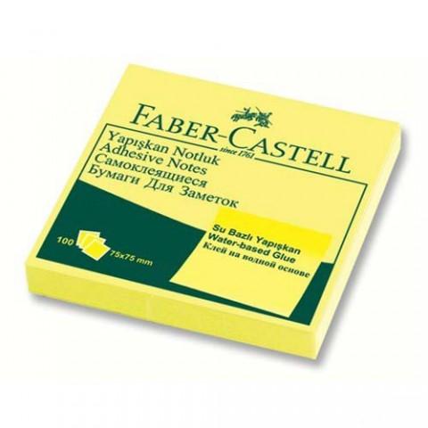 Faber-Castell Yapışkanlı Not Kağıdı 75x75mm Sarı