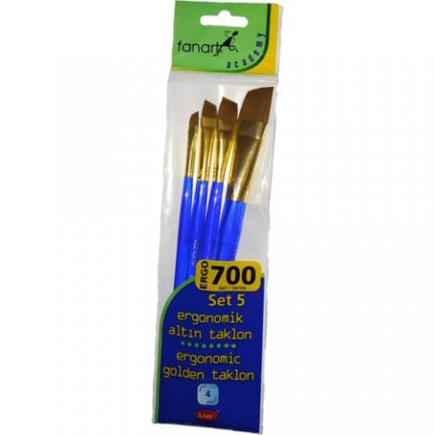 Fanart 700 Serisi Ergonomik Altın 4'lü Fırça Seti - Set-5