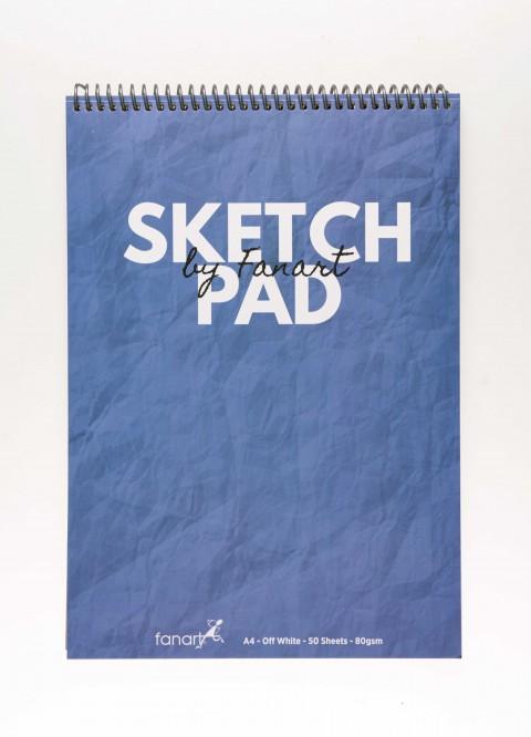 Fanart Academy Üstten Spiralli A4 Sketch Pad 80gr 50yp  - Akdeniz Mavisi