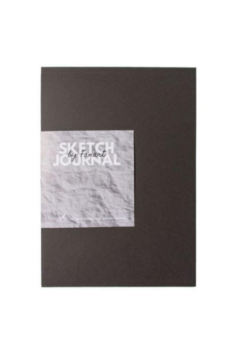 Fanart Sketch Journal (eskiz Defteri) A4 Dikişli 110 Gr Ivory Kağıt- Gri