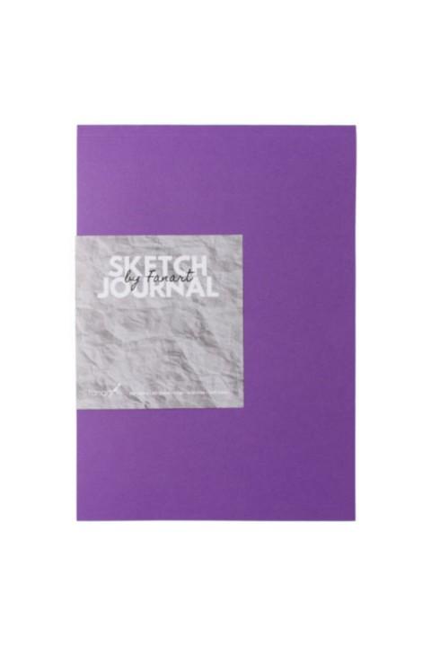 Fanart Sketch Journal (eskiz Defteri) A4 Dikişli 110 Gr Ivory Kağıt- Mor