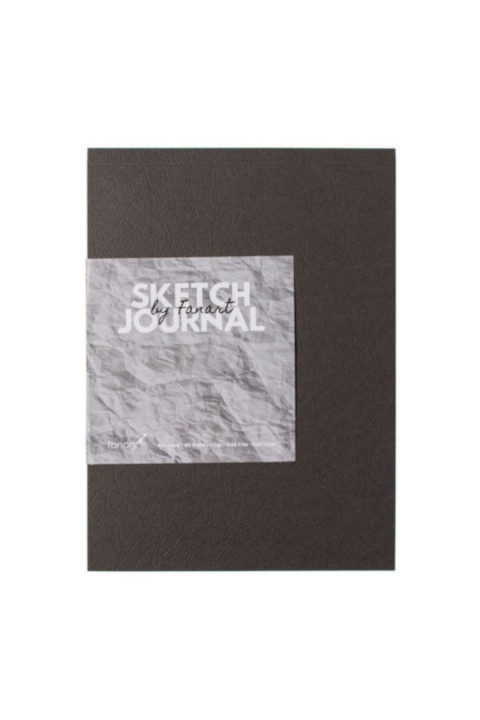 Fanart Sketch Journal (Eskiz Defteri) A5 Dikişli 110 gr Ivory Kağıt- Gri