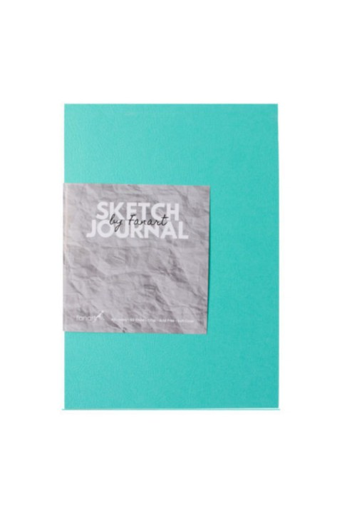 Fanart Sketch Journal (eskiz Defteri) A5 Dikişli 110 Gr Ivory Kağıt- Turkuaz
