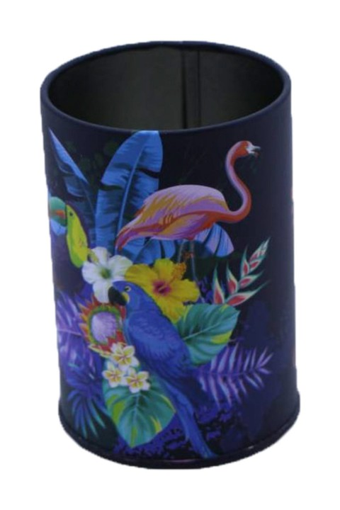 Flamingo Desenli Metal Masa Kalemliği