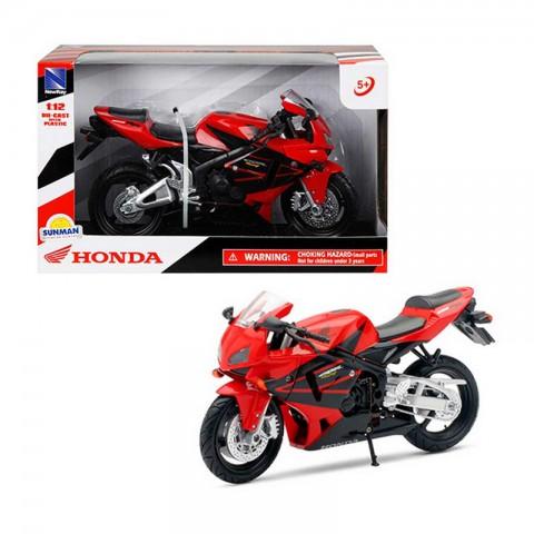 Honda CBR 600 Kırmızı Model Motorsiklet 1/12 Ölçek