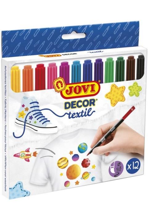 Jovi Decor Textil Kalemi 12 Renk Set