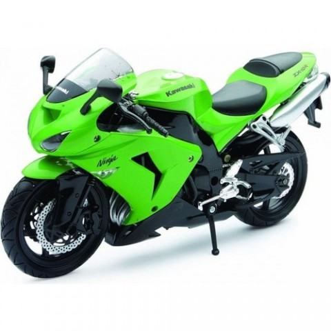 Kawasaki ZX-10R 2006 Model Motorsiklet 1/12 Ölçek - Yeşil