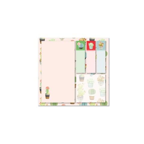 Keskin Color 12x12cm 5'li Yapışkanlı Not Kağıdı Seti - Cactus