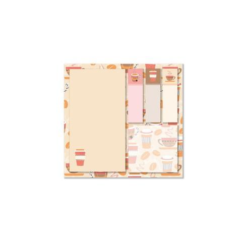 Keskin Color 12x12cm 5'li Yapışkanlı Not Kağıdı Seti - Coffee