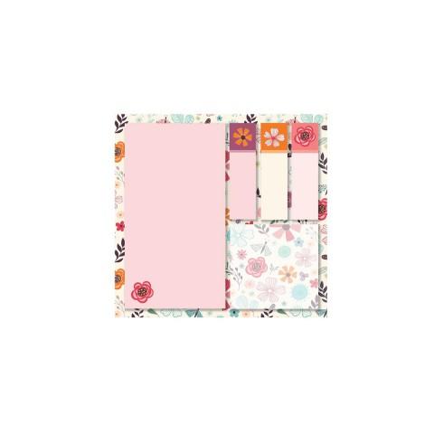 Keskin Color 12x12cm 5'li Yapışkanlı Not Kağıdı Seti - Floral