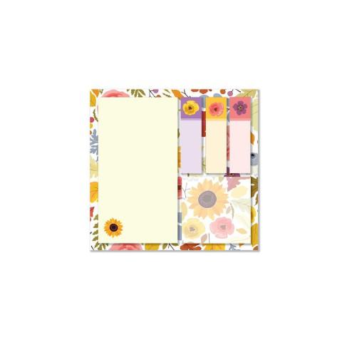 Keskin Color 12x12cm 5'li Yapışkanlı Not Kağıdı Seti - Sunflower
