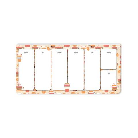 Keskin Color 12x26cm Haftalık Planner Blok - Coffee