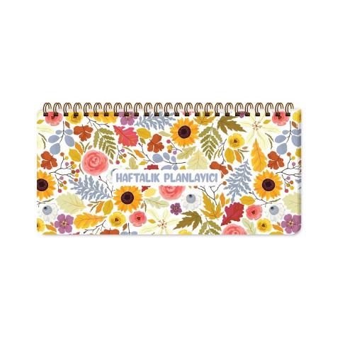 Keskin Color 13x27cm Spiralli Haftalık Planner Blok - Sunflower