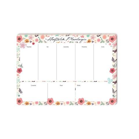 Keskin Color 17x24cm Haftalık Planner Blok - Floral