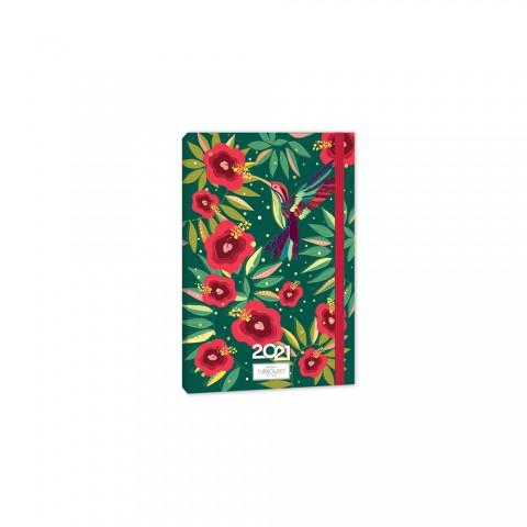 Keskin Color 2021 Yılı Dikişli Karton Kapak Günlük Ajanda - Golden Rose