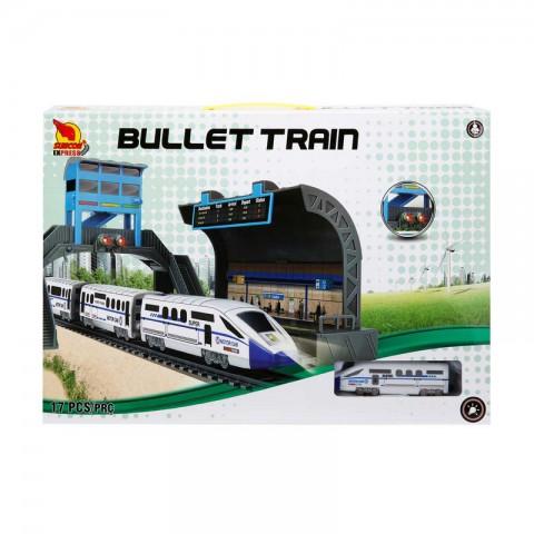 Oyuncak 17 Parça Bullet Tren Sesli ve Işıklı