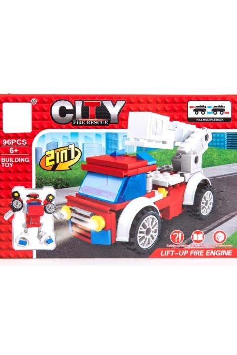 Oyuncak Lego İtfaiye Kamyonu 96 Parça