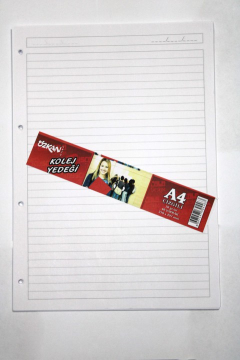 Özkan A4 40 Yaprak Kolej Yedeği Kağıt - Çizgili