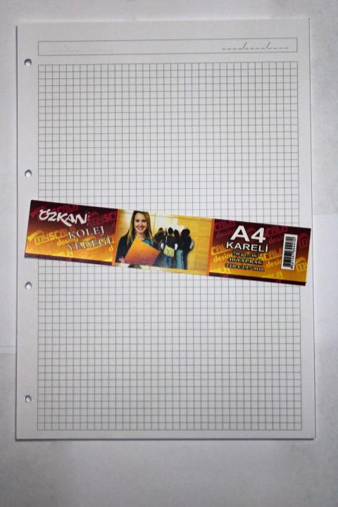 Özkan A4 40 Yaprak Kolej Yedeği Kağıt - Kareli
