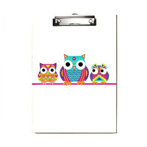 Paklon Desenli Kapaksız Sekreterlik - Baykuş