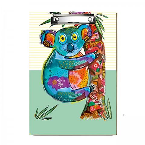 Paklon Desenli Kapaksız Sekreterlik - Koala