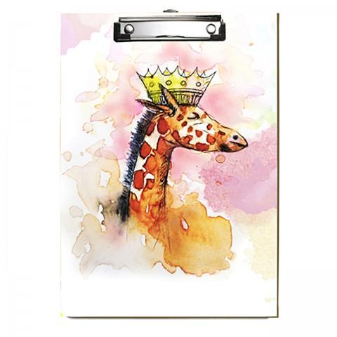 Paklon Desenli Kapaksız Sekreterlik - Zürafa