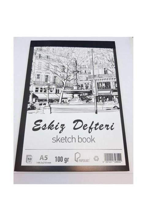PaperArt 50yp 100gr Dikişli Eskiz Defteri -A5