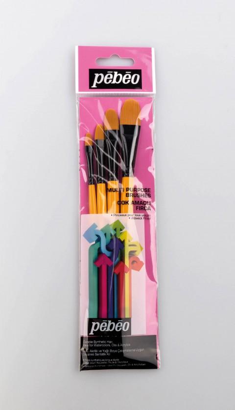 Pebeo 4'lü Fırça Seti - Set 11