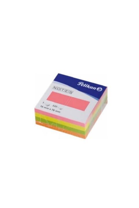 Pelikan 75x75 cm Yapışkanlı Not Kağıdı 320 yp - Neon
