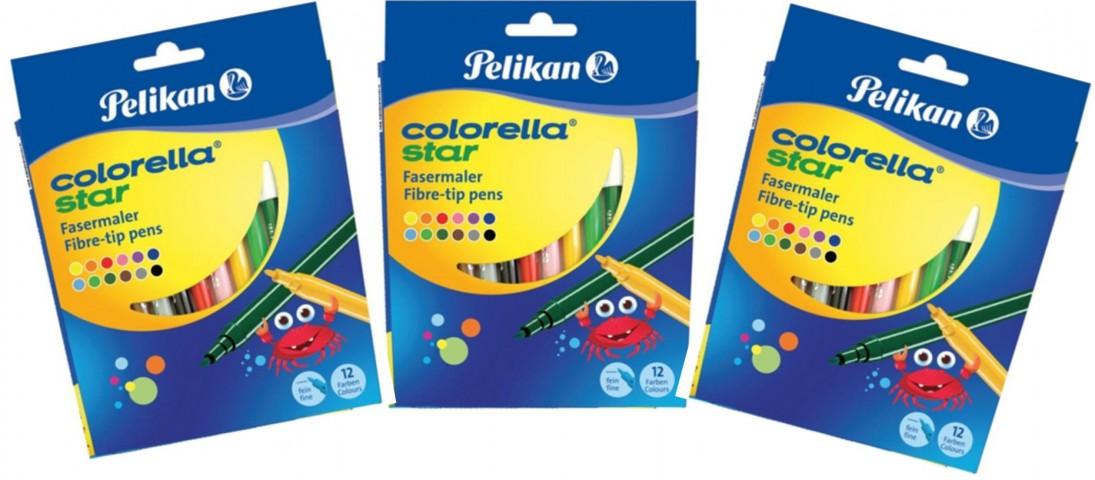 Pelikan Colorella Star 3x 12'li Karton Kutu Keçeli Kalem