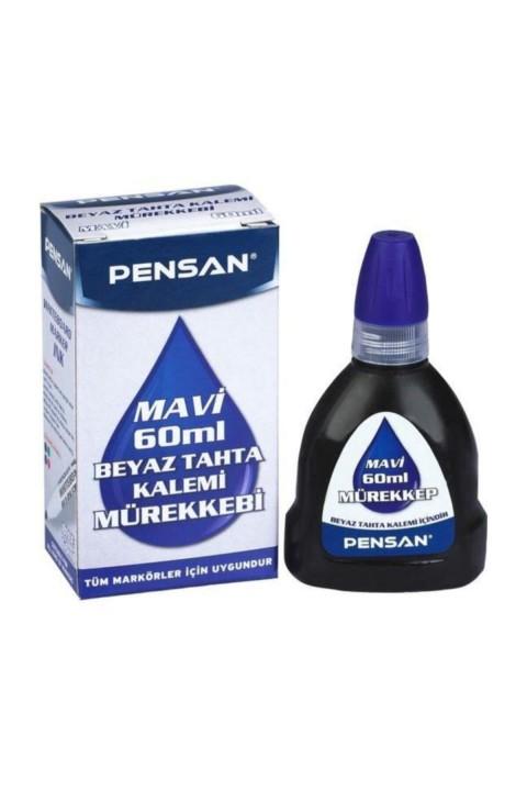 Pensan Tahta Kalemi Mürekkebi 60 ml Mavi