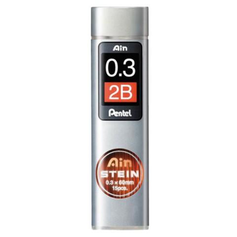 Pentel Ain Stein 0.3 mm 2B 15'li Min (Uç)