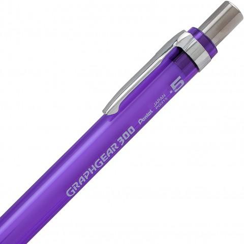 Pentel GraphGear 300 0.5 mm Mekanik Kurşun Kalem - Mor