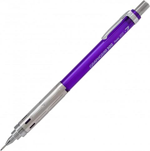 Pentel GraphGear 300 0.7 mm Mekanik Kurşun Kalem - Mor