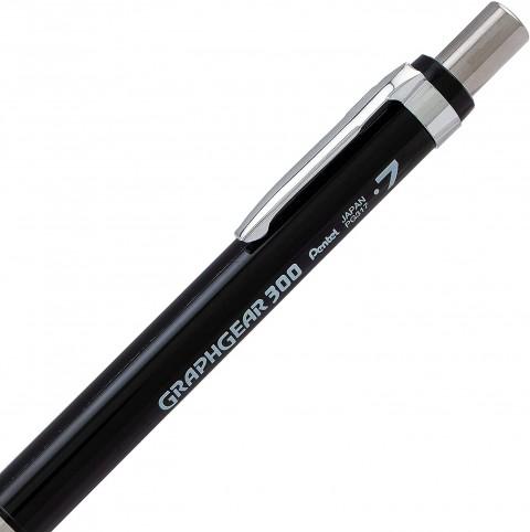 Pentel GraphGear 300 0.7 mm Mekanik Kurşun Kalem - Siyah