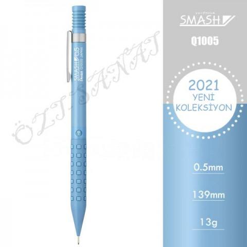 Pentel Smash Q1005 2021 Özel Seri 0.5 mm Mekanik Kurşun Kalem Buz Mavisi