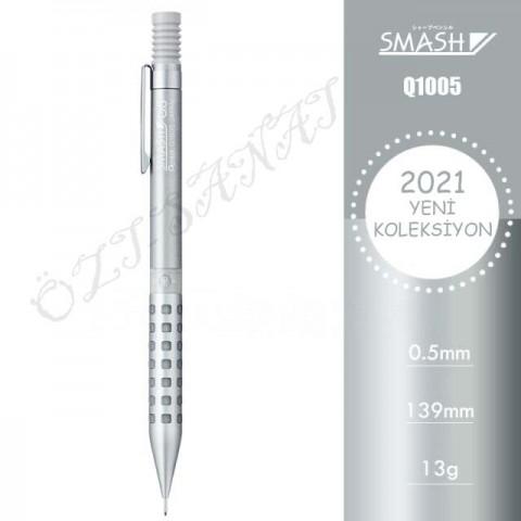 Pentel Smash Q1005 2021 Özel Seri 0.5 mm Mekanik Kurşun Kalem Gri
