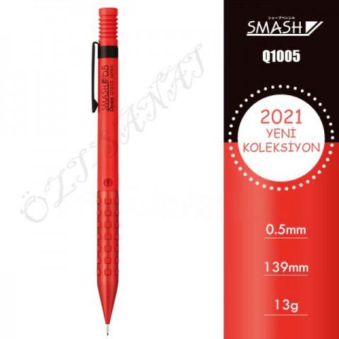 Pentel Smash Q1005 2021 Özel Seri 0.5 mm Mekanik Kurşun Kalem Kırmızı