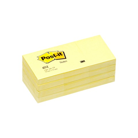 Post-it 100 38x51mm 100 Yaprak Sarı Yapışkanlı Not Kağıdı