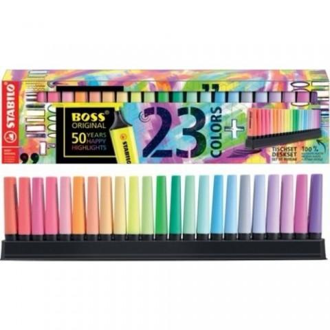 Stabilo Boss Original 23 Renk Masa Üstü Standlı Set (19 Renk + 4 Yeni 2021 Yılı Rengi)