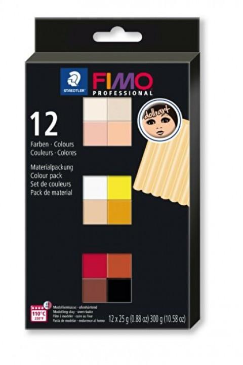 Staedtler Professionel Fimo 25gr x 12 Renk Polimer Kil Set - Doll Art