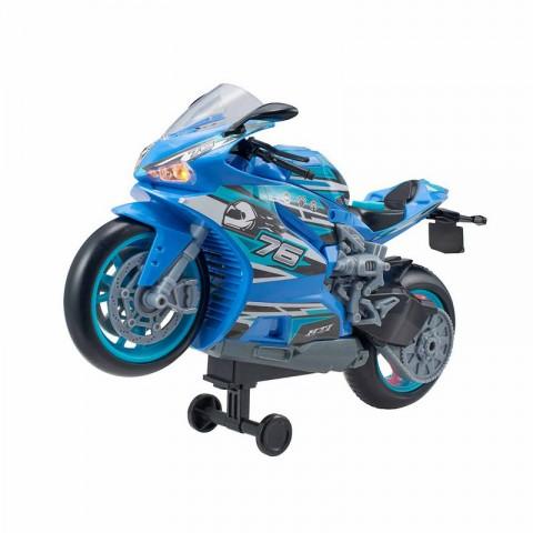 Street Moverz Sesli Ve Işıklı 27cm Motosiklet - Mavi