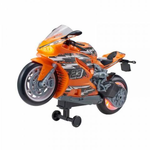 Street Moverz Sesli Ve Işıklı 27cm Motosiklet - Turuncu