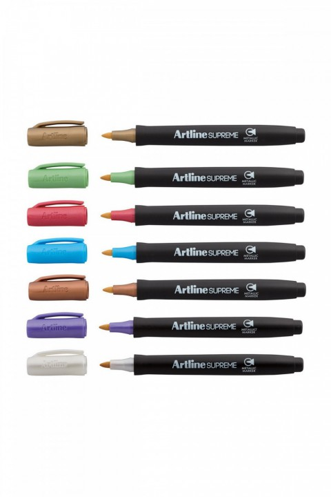 Supreme Metalik Keçe Kalem 7 Renkli Set