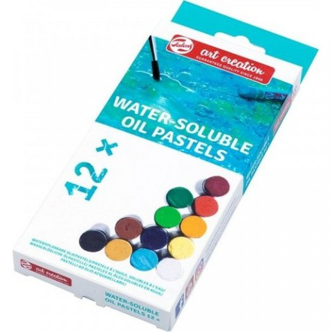 Talens Art Creation 12'li Water Souble-Sulandırılabilir Oil Pastel Set 12 Renk